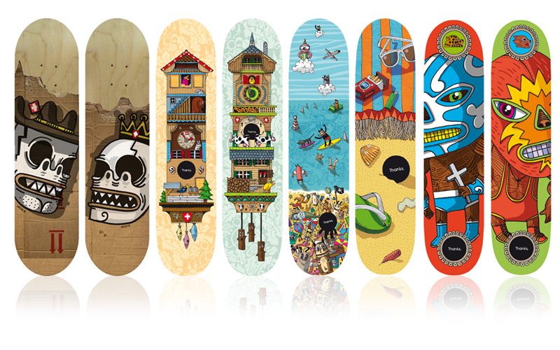 Parutions | 2011-12-13 | Thanks SK8 | Skate decks - épuisés