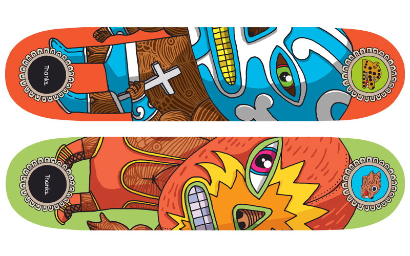 Productions | 2013 | Thanks SK8 | Skate Decks - épuisés